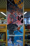 Kunstsäulen in der Remigius Bücherei